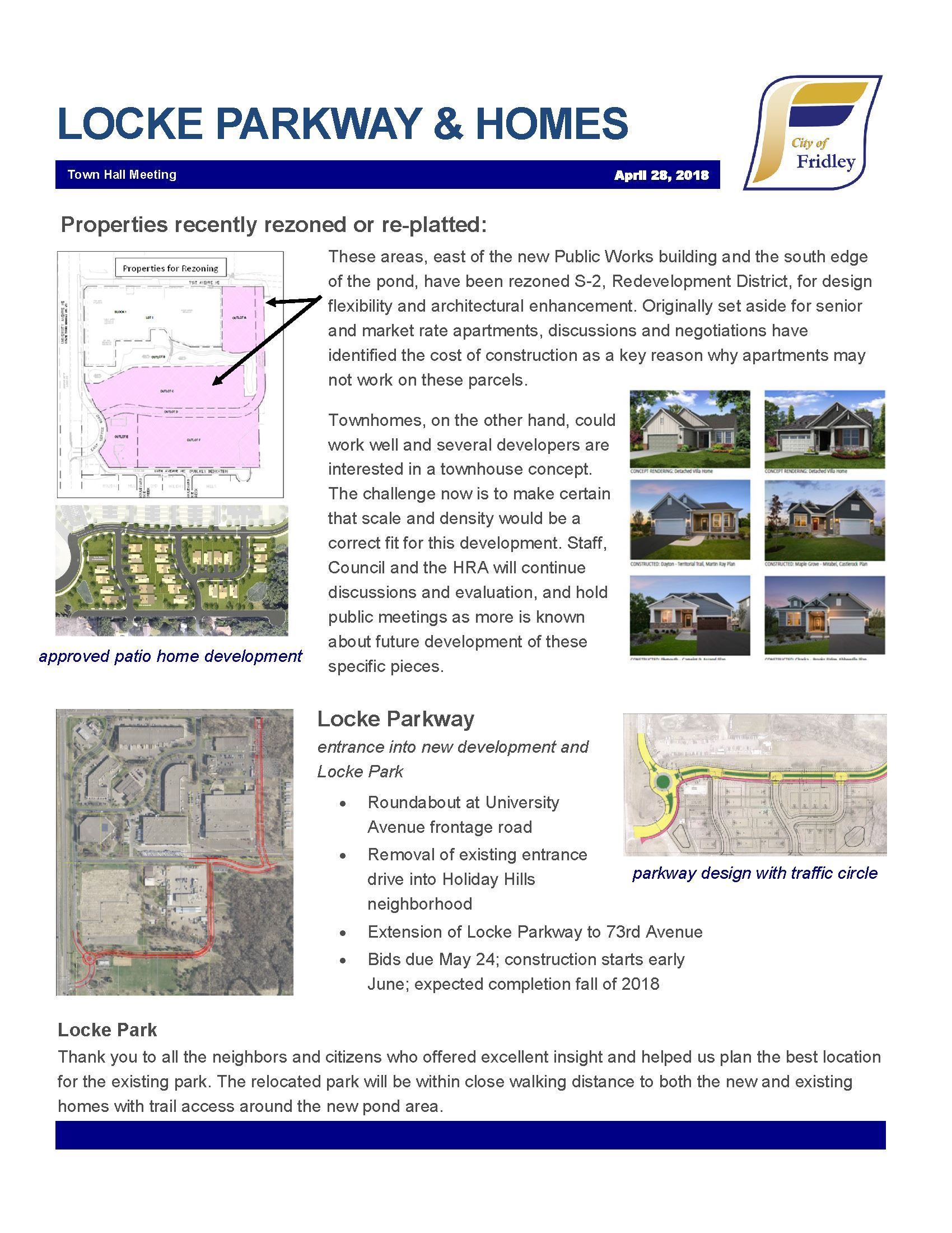 zoning update for the area surrounding Locke Pointe Park