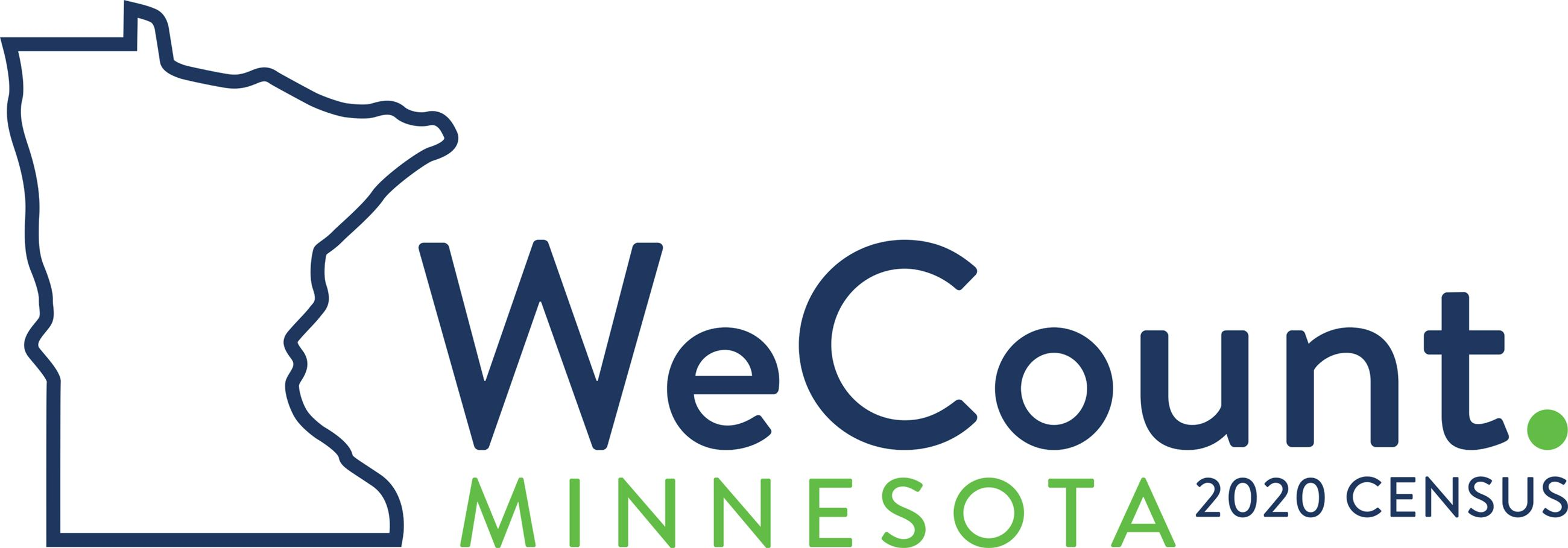 "2020 Census Logo - Minnesota Outline and statement, ""We Count."""